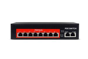 Switch Ethernet 8 porte poe velocita' 10/100 Mbps 2 FE 2 porte lan 120w POE208D