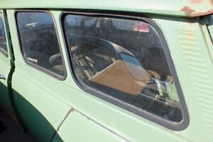 Vtg Saab 95 Wagon Hinged Glass Window Driver Side Left with Latch V4 Two Stroke
