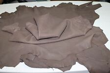 Italian Lambskin leather skins vegetable tan NATURAL GRAINY BROWN 30sqf #A2215