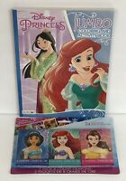 New Disney Princess Coloring Activity Book + 3 Packs Of Crayons Belle Cinderella