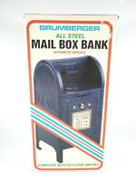 Vintage US Postal Service Mailbox Steel Bank by Brumberger Co New in Box