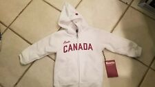 Roots Canada NWT white hoodie Canada logo size 2T made in Canada