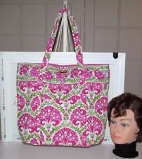 VERA BRADLEY LARGE JULEP TULIP THE ' VERA ' TOTE  RETIRED COTTON INTERIOR NWT