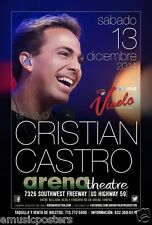 CRISTIAN CASTRO 2014 HOUSTON CONCERT TOUR POSTER - Mexican Latin Pop Music Star