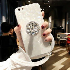 Hot Bling Diamond Airbag Stand Strap Shell Case Cover for iPhone XS Max XR 7 8+