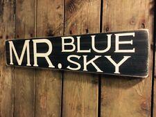 Mr Blue Sky Sign ELO Vintage LOOK Old Gift Plaque Shabby