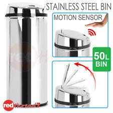 Stainless Steel 50L Rubbish Bin Motion Sensor Waste Automatic Garbage Kitchen