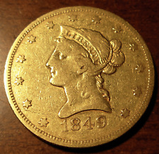 US 1849 Gold $10 Eagle F - VF Liberty Head