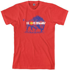 Threadrock Men's Buffalo Colorado Flag T-shirt Denver State