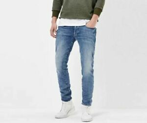 G-Star Raw 3301 Slim Fit W40 L34 Mens Blue Humber Stretch Denim Jeans