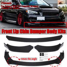 Front Bumper Lip Body Kit Spoiler Set For Subaru WRX STI Impreza Legacy Outback
