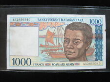 New listing Madagascar 1000 Francs 1994 P76 Fish Sea Food 58# Bank Currency Money Banknote