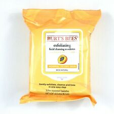 BURT'S BEES Peach & Willow Bark Exfoliating Facial Cleansing Towelettes 1 Pack