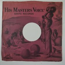 "10"" 78rpm paper gramophone record sleeve HMV BANTU RECORDS"