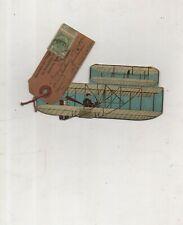 carte à système souvenir exposition  Bruxelles 1910 dans un aéroplane