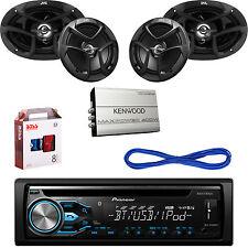 "Pioneer Bluetooth CD USB Radio,JVC 6x9""&6.5"" Car Speakers w/Wires,Amplifier& Kit"