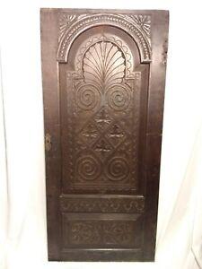 Oak 17th Century Panel Carved Cupboard Door