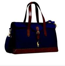 Ralph Lauren Polo document holder Satchel Travel Holdall Case Bag Navy & Brown