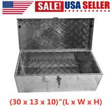 Portable 30 Aluminum Toolbox Truck Atv Trailer Box Tool Storage With Lock Us