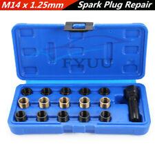 1 Boxed Vehicle M14*1.25mm Spark Plug Re-thread Repair Tap Tool 11.2/17.5/17.5mm