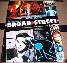 THE BEATLES McCARTNEY FRENCH PROMO POSTER 'GIVE MY REGARDS TO BROAD STREET' 1984