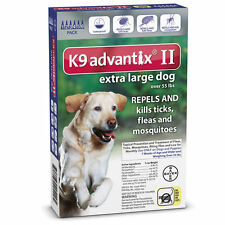 K9 Advantix II for Extra Large Dogs Over 55 lbs, 6 Month Supply (No Box)