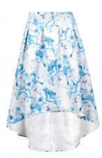 Wolf and Whistle Blue Floral Drop Hem Skirt rrp £45 Size Uk 6 LS079 JJ 08