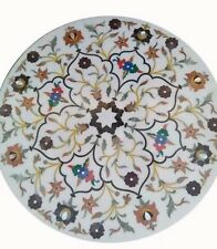 "36"" marble table Top marquetry pietra dura inlay art home room decor"