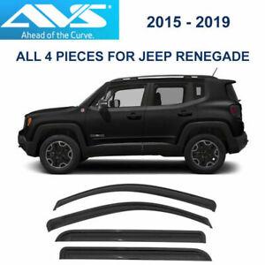 AVS Rain Guards 94368 (Tape-On) Window Vent Visor 4pc Fit 15-19 Jeep Renegade