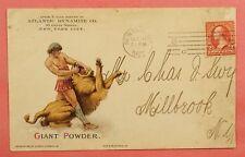 DYNAMITE & GUN POWDER Illustrated GIANT POWDER 1902 NY AD Cover BOTH SIDES WoW !