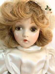 Girl Doll – unmarked American doll 20""