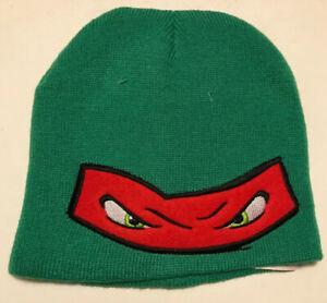Nickelodeon TNMT Raphael Teenage Ninja Mutant Turtles Winter Beanie Hat Kids New