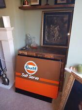 gulf petrol sign mancave garage forecourt petrol head pump shroud orange brown