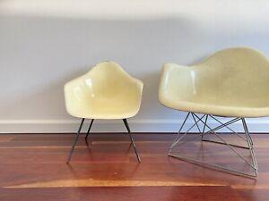 VINTAGE Miniature Eames Fiberglass Chair Mid Century Modern Shell child