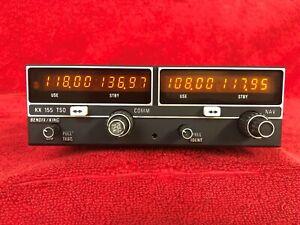 BENDIX KING KX 155 NAV/COM NO G/S 14V with FRESH BENCH TEST & FAA 8130 Form