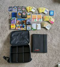 POKEMON STUFF - INCLUDES - BAG - DISPLAY FOLDER- CARDS AND MORE. GREAT CONDITION