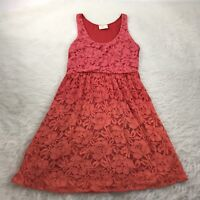 URBAN OUTFITTERS Pins and Needles Size Small Dress Red-Orange Lace Overlay Cute