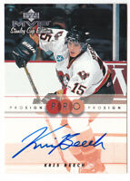 1999-00 Upper Deck MVP SC Edition ProSign #KB Kris Beech AUTO