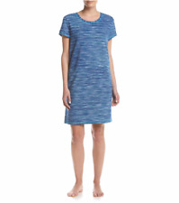 NWT Karen Neuburger Plus Sz 1X Sleep Shirt Dress Nightgown Nightshirt Tunic Blue