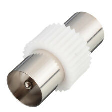 Coaxial Coupler Coax Adaptor TV Aerial Cable Connector Plug Male To Male Adapter