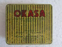 1970's Rare Vintage Old Medicine OKASA Tablets Ad. Hormo Pharma, London Tin Box