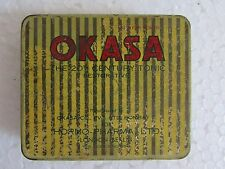 1970's Rare Vintage Old Medicine OKASA Tablets Ad. Hormo Pharma, London Tin Box