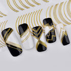 Nail Art 3D Decal Stickers Gold Chain Nail - US Seller