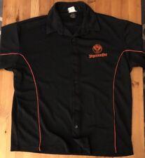 Men's Jagermeister Embroidered Bar Golf Polo Bowling Shirt Large Black Orange