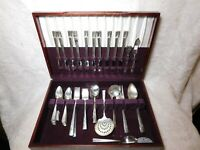 Oneida CAPRICE Silverplate Flatware 61 Pc Set Service For 10  1937 with BOX