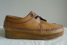 Vintage Clarks Wallabee Tan Leather  Moccasin Size 8.5 Made in Ireland