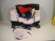 New Women's CHICAGO Roller Skates White w/Purple 4 wheelers Sz: 9 Style: CRS300