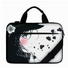 "Luxburg® 13"" Luxury Design Laptop Canvas Bag with Shoulder Strap & Handle #BT"