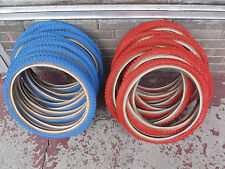 Red Cheng Shin skinwall Comp III 20 x 1.75 pair fits old school BMX NEW