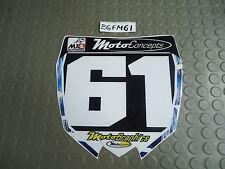 Yamaha Yzf250 YZF450 Jeff Alessi EDICION Equipo Negro no.801 Delante placa